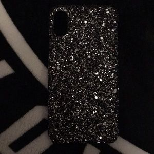 Accessories - iPhone 7/8 black glitter case